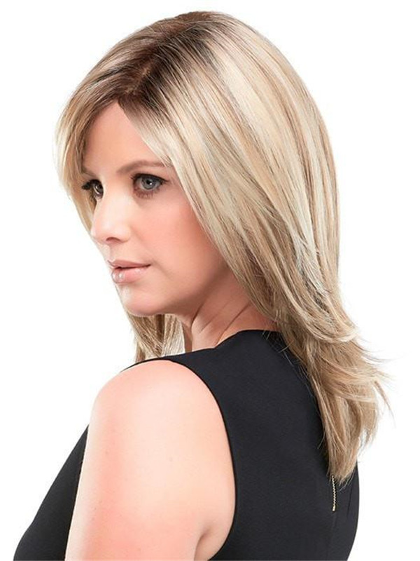 Black And Blonde Sandra Synthetic Wig For Women
