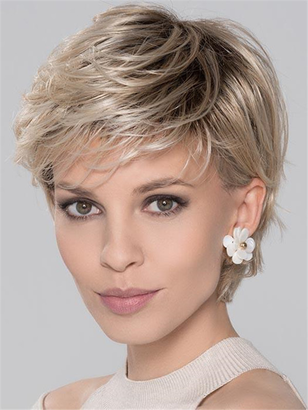 Layered Score Synthetic Wig Rooted For Women