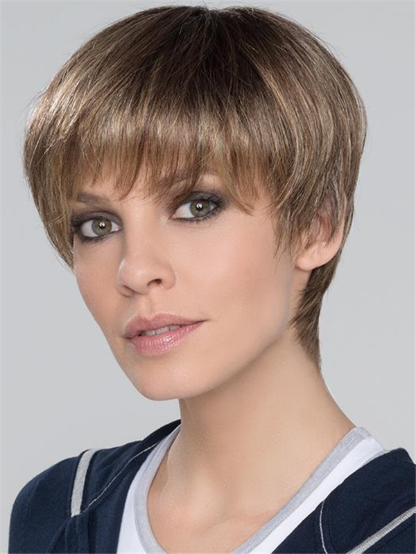 Black And Blonde Seven Super Synthetic Wig For Women