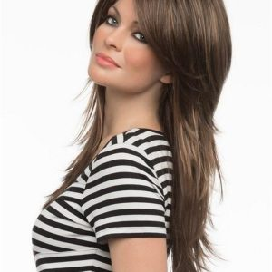 Black And Gray Sheena Synthetic Lace Front Wig For Women