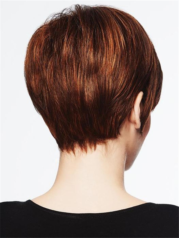 Black And Red Pixie Synthetic Wig Basic Cap For Women