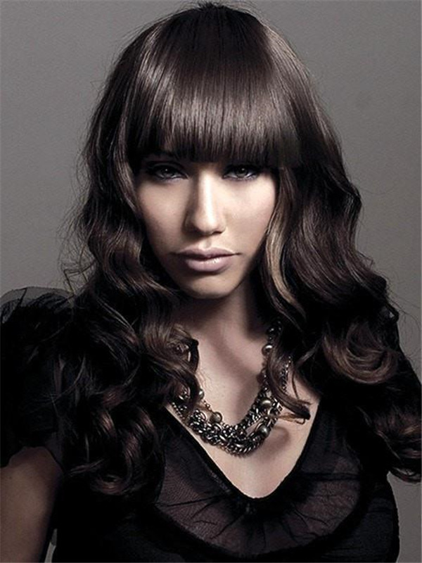 Sleek Finish Synthetic Bang Clip In All Hairpieces