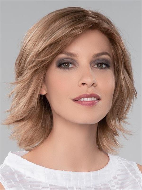 Blonde European Remy Human Hair Wig Wavy For Women