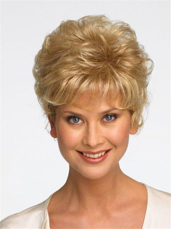 Blond And Gray Sonata Synthetic Hair Topper Half
