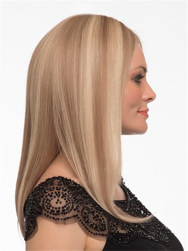 Blonde And Red Sophia Human Hair Lace Front Wig For Women