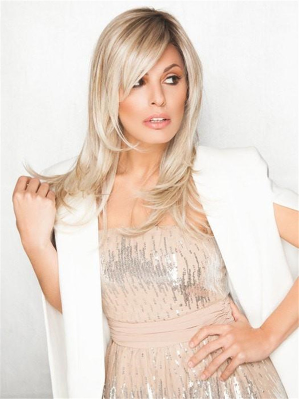 Blonde And Black Spotlight Synthetic Lace Front Wig For Women