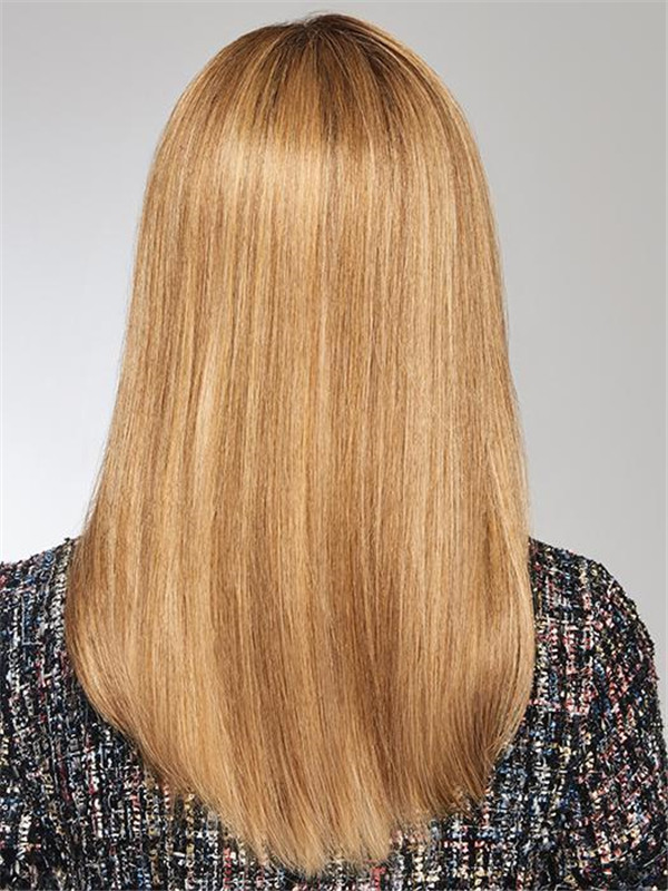 Blond And Brown Style Synthetic Hair Topper Half