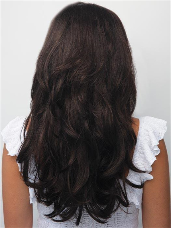 Blond And Brown Sydney Synthetic Half Wig Rooted Half