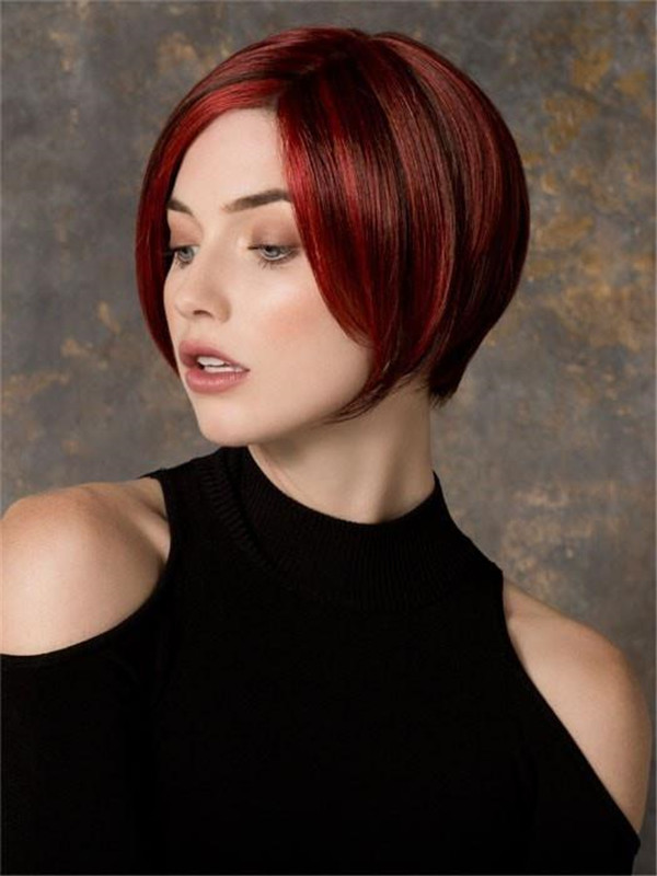 Blonde And Red Synthetic Lace Front Wig For Women