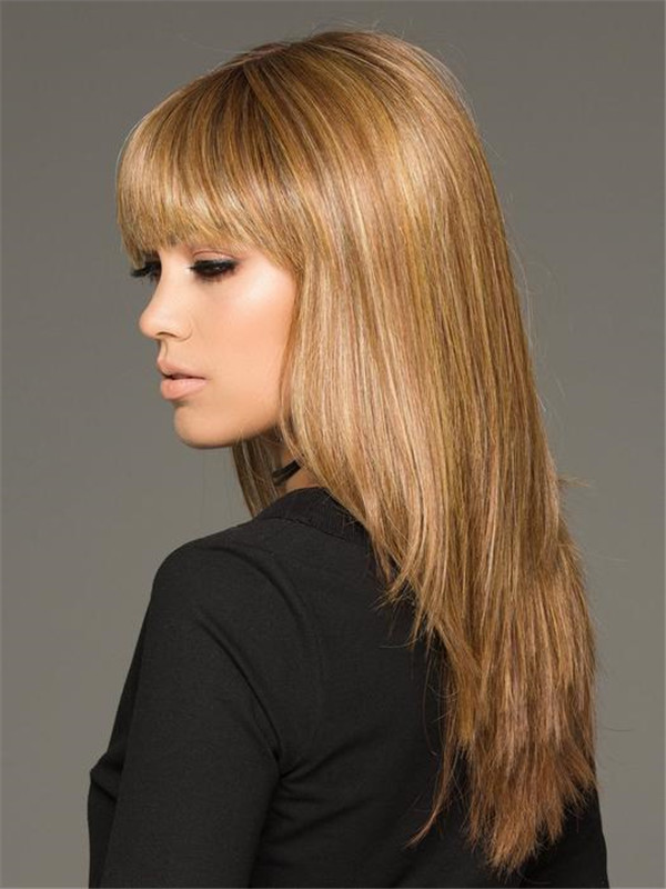 Black And Blonde Taryn Human Hair Synthetic Blend Wig For Women