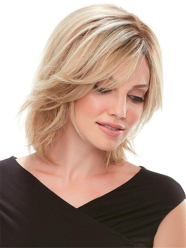 Black And Brown Top Form Human Hair Topper Half