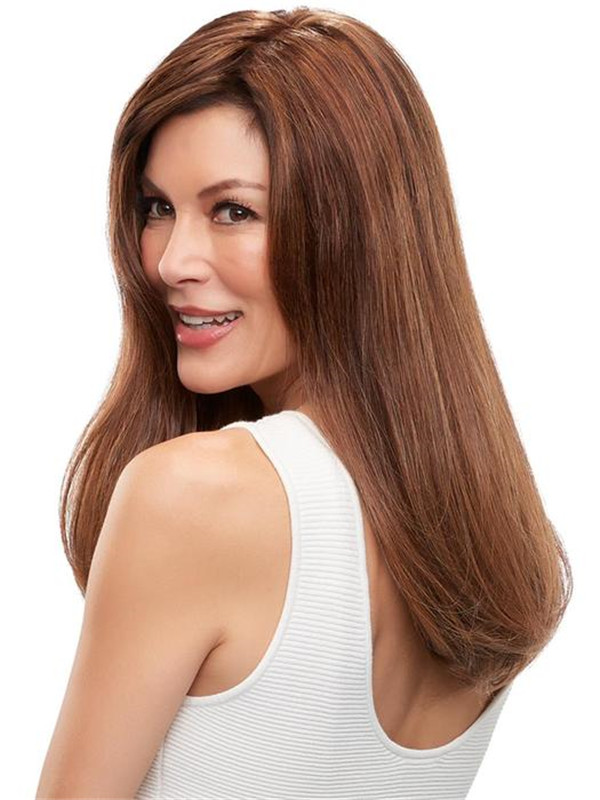 Rooted Top Form French Human Hair Topper Half