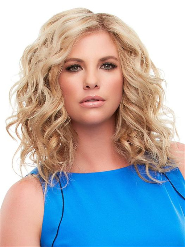 Blond And Brown Exclusive Remy Human Hair Topper Half