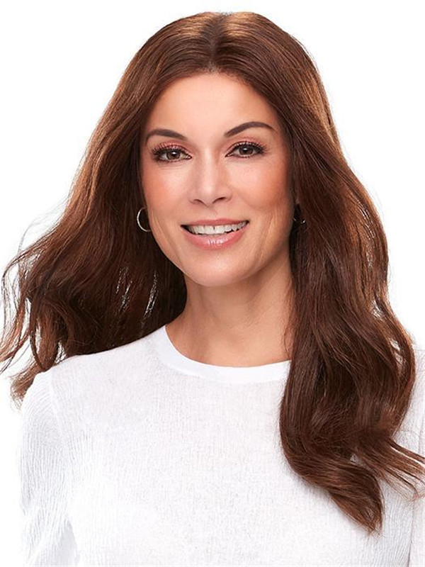 Black Top Lace Front Remy Human Hair Topper Half