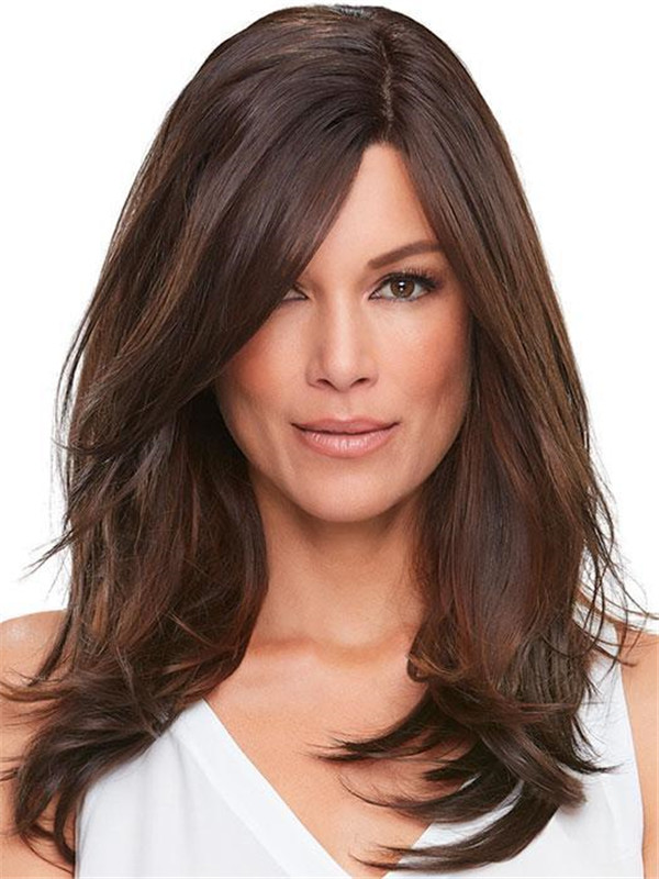 Top Lace Front Synthetic Hair Topper Rooted Half