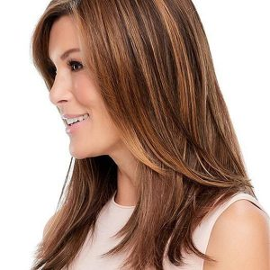 Black And Brown Top Style Synthetic Hair Topper Half