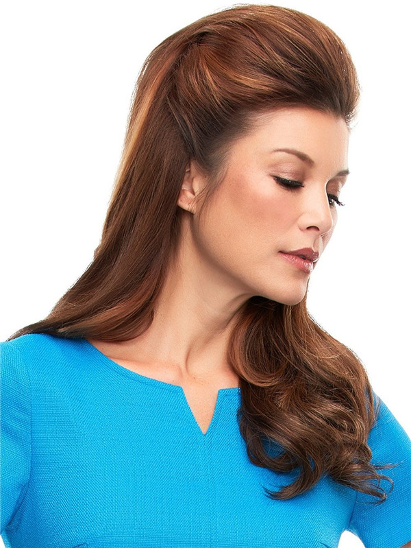 Brown And Blond Top This Human Hair Topper All Hairpieces