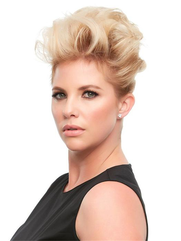 Black And Blond Top This Remy Human Hair Topper Half