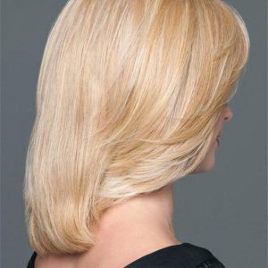 Black And Blond Synthetic Hair Topper Hairpiece Half