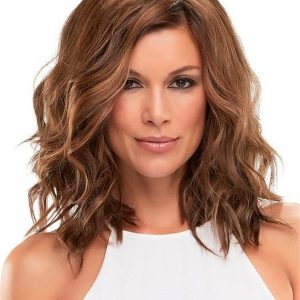 Black And Brown Wave Synthetic Hair Topper All Hairpiece