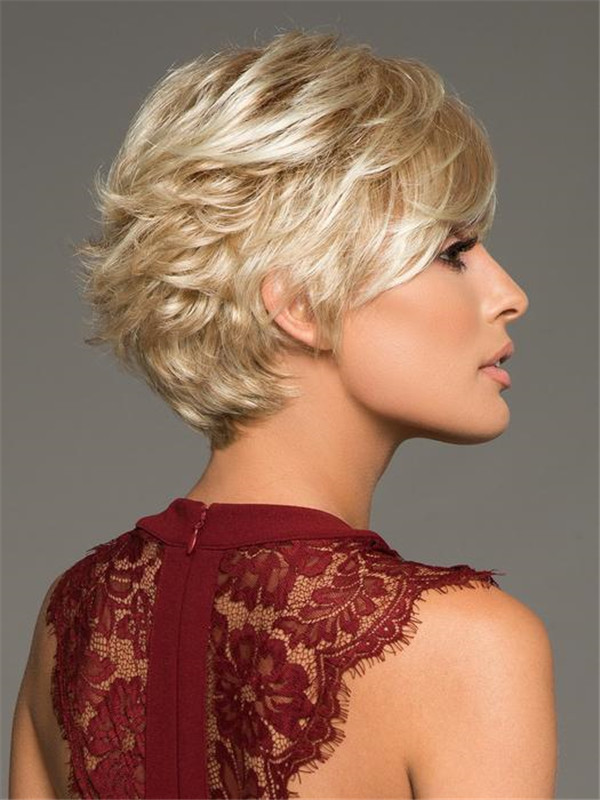Black And Blonde True Synthetic Wig Basic Cap For Women