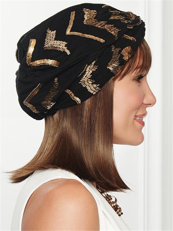 Blond And Brown Under Cover Synthetic Hairpiece Bangs