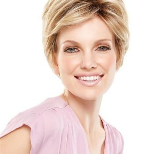 Black And Gray Synthetic Lace Front Wig Basic Cap For Women