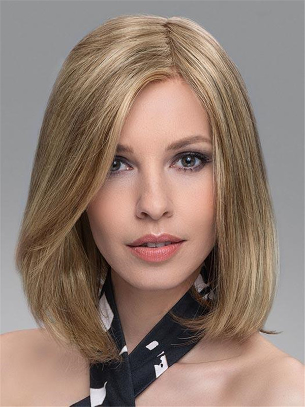 Blond Vario Human Hair Synthetic Blend Half