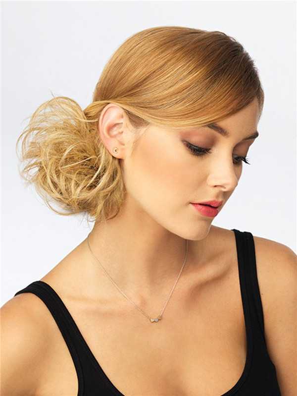 Blond Wavy Wrap Synthetic Hair Bun All Hairpieces