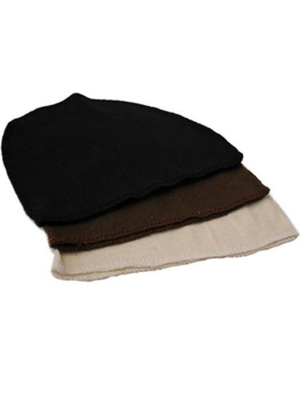 Brown Cotton Wig Liner Cap Hats Headcovers