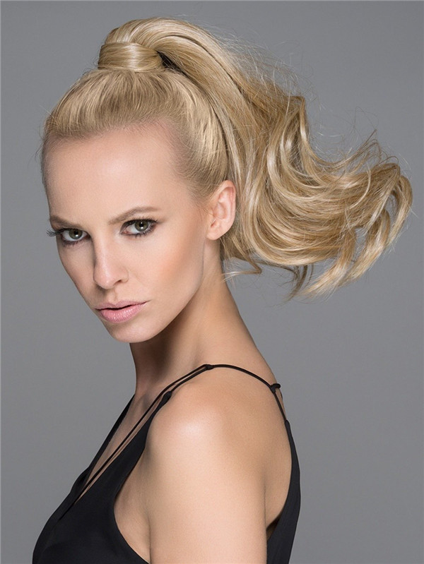 Blond And Brown Wine Synthetic Ponytail All Hairpieces