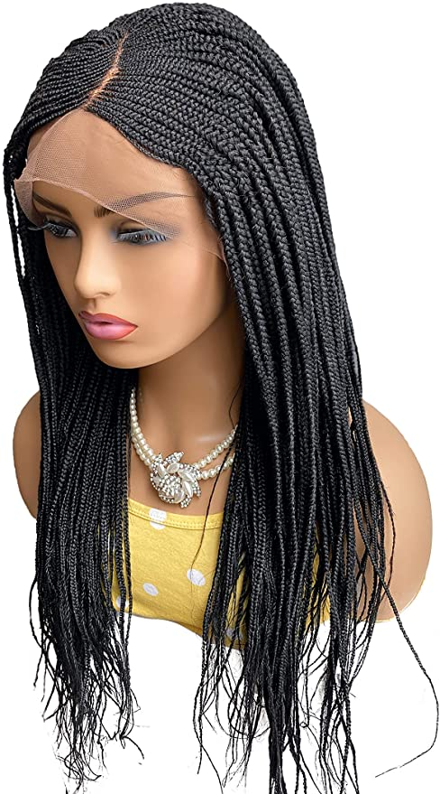 Popular Blonde Long Braided For Women Basic Cap Synthetic Wig