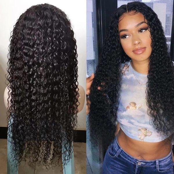 Best Balack Long Curly Foy Women Basic Cap And Lace Front Synthetic Human Hair Wig