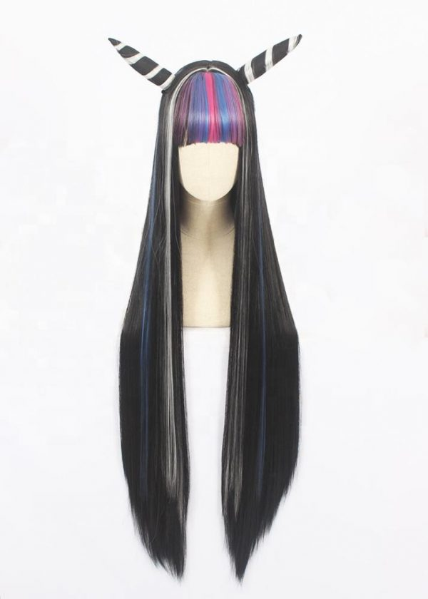Low Price Gray Long Straight For Women Basic Cap Synthetic Wig