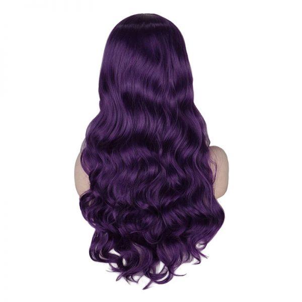 Popular Women Long Wavy Basic Black Cap Synthetic Wig